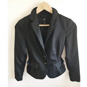 H&M Black Structured Blazer